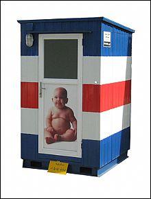کانکس سرویس بهداشتی تک کابین