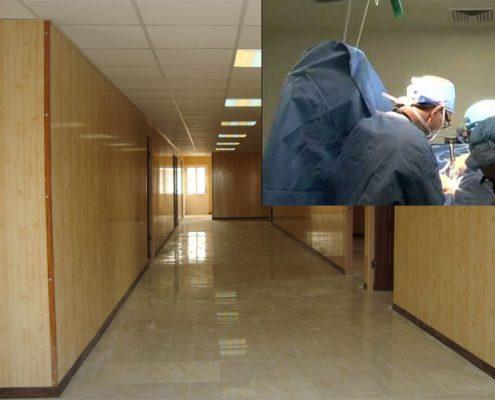 نمای داخل کانکس کلینیک درمانی